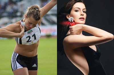 Nataliya Dobrynska au lancer de poids Vs Anne Hathaway au lancer de Magnifique