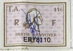 Ici, un timbre-amende daté 2009 après J.C.