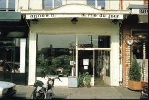 La première boutique agnès b. rue du Jour à Paris